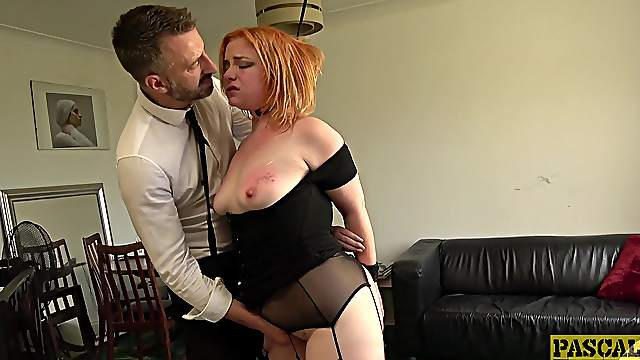 Redhead loves a bit of foreplay before getting her hands on the prize